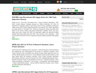 govtjob.ind.in screenshot