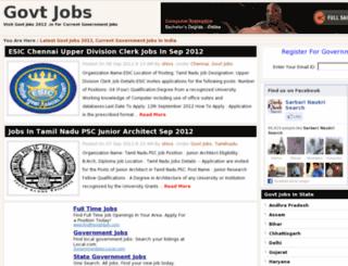 govtjobs2012.in screenshot