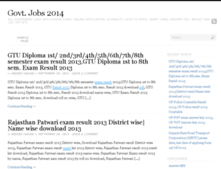 govtjobs2014.in screenshot