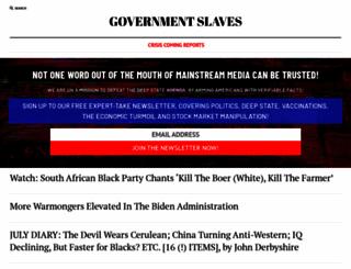 govtslaves.info screenshot