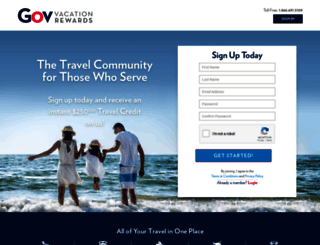govvacationrewards.com screenshot