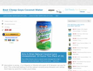 goyacoconutwater.lowpriceshop.us screenshot