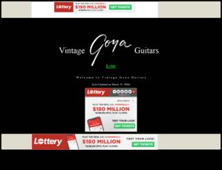 goyaguitars.tripod.com screenshot