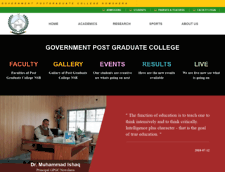 gpgcnowshera.edu.pk screenshot