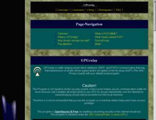 gpgrelay.sourceforge.net screenshot