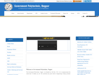 gpnagpur.ac.in screenshot