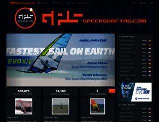 gps-speedsurfing.com screenshot