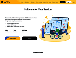 gps-trace.com screenshot
