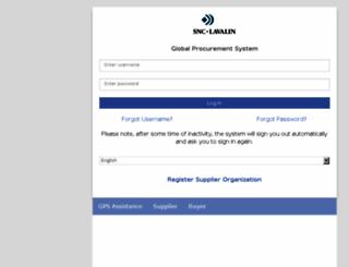 gps.snclavalin.com screenshot