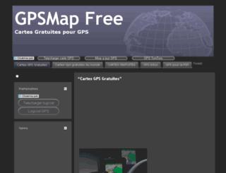 gpsmapfree.fr screenshot