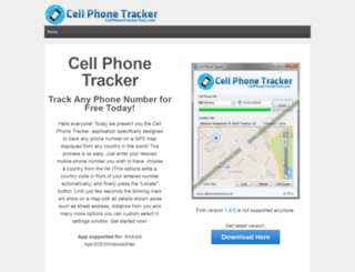 gpsphonetrackerapp.com screenshot