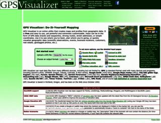 gpsvisualizer.com screenshot