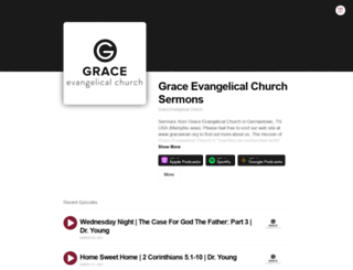 graceevanchurch.buzzsprout.com screenshot