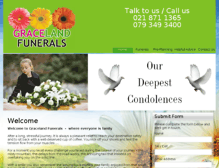 gracelandfunerals.co.za screenshot