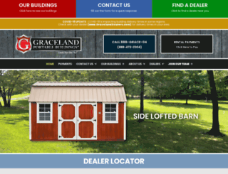 gracelandportablebuildings.com screenshot