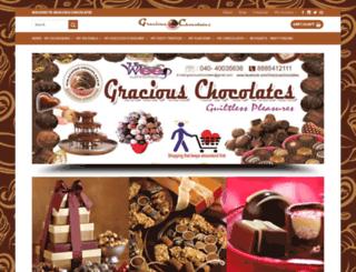 graciouschocolates.in screenshot