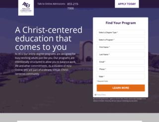 grad.acu.edu screenshot