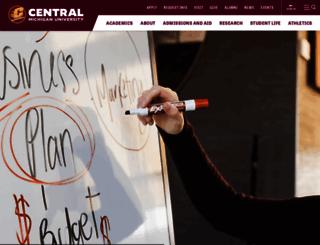 grad.cmich.edu screenshot