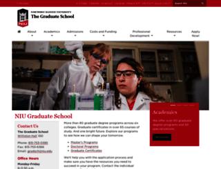 grad.niu.edu screenshot