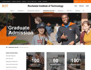 grad.rit.edu screenshot