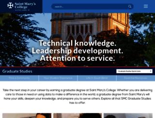 grad.saintmarys.edu screenshot