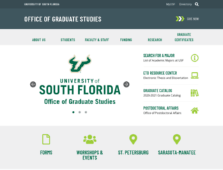 grad.usf.edu screenshot