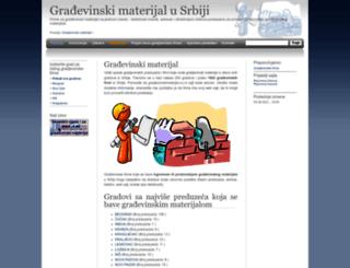 gradjevinskimaterijal.cu.rs screenshot