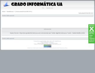 gradoinformaticaua.forogratis.es screenshot