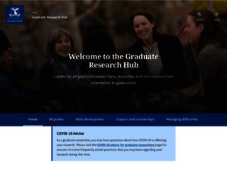 gradresearch.unimelb.edu.au screenshot