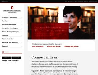 gradsch.osu.edu screenshot