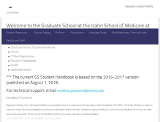 gradschool.mssm.edu screenshot