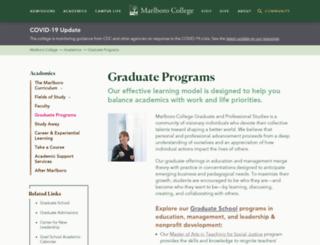 gradschool2.marlboro.edu screenshot