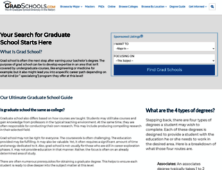 gradschools.com screenshot