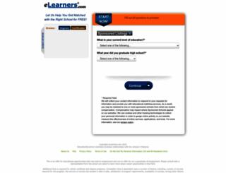 gradschools.elearners.com screenshot