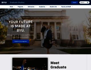 gradstudies.byu.edu screenshot