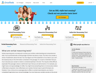 gradtests.com.au screenshot