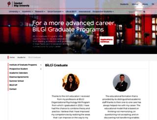 graduate.bilgi.edu.tr screenshot
