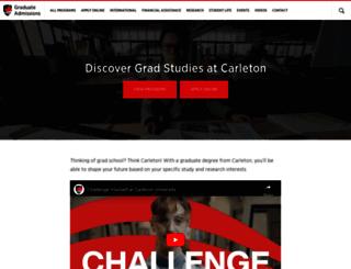 graduate.carleton.ca screenshot
