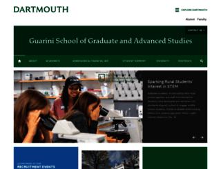 graduate.dartmouth.edu screenshot