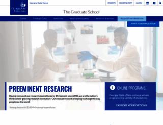 graduate.gsu.edu screenshot