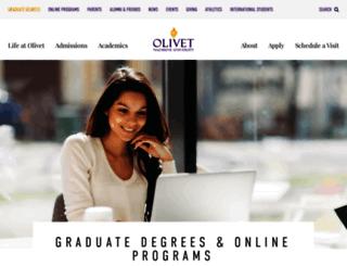 graduate.olivet.edu screenshot
