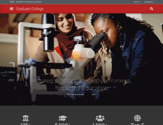 graduatecollege.unlv.edu screenshot