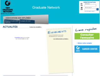 graduatenetwork.grenoble-em.com screenshot