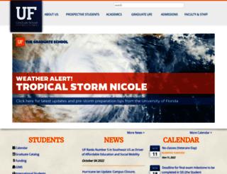 graduateschool.ufl.edu screenshot
