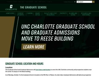 graduateschool.uncc.edu screenshot