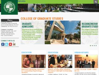 graduatestudies.csuohio.edu screenshot