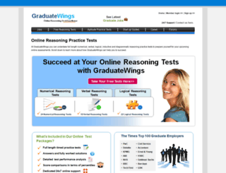 graduatewings.co.uk screenshot