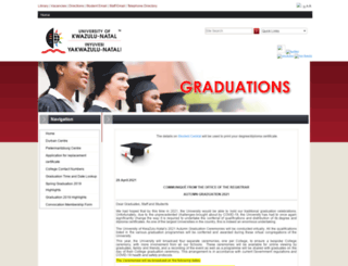 graduations.ukzn.ac.za screenshot