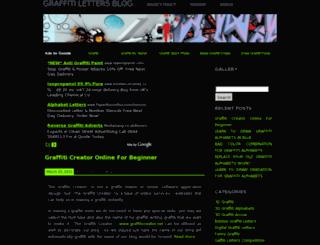graffitilettersblog.com screenshot