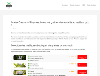 graine-cannabis-shop.com screenshot